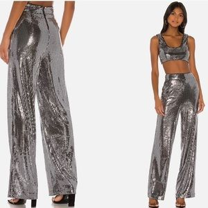 Silver Sequined Temple Pants M free shipping